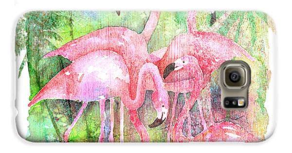 Flamingo Five Galaxy S6 Case by Arline Wagner