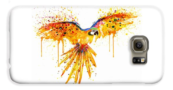 Flying Parrot Watercolor Galaxy S6 Case by Marian Voicu