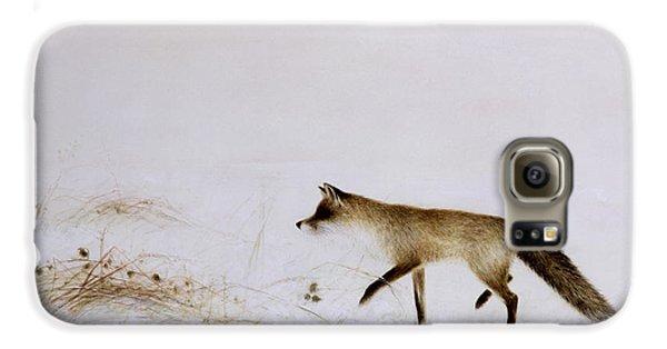 Fox In Snow Galaxy S6 Case by Jane Neville