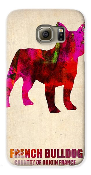 French Bulldog Poster Galaxy S6 Case by Naxart Studio