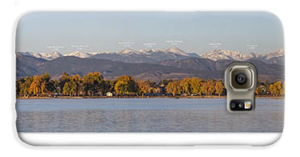 Front Range With Peak Labels Galaxy S6 Case by Aaron Spong