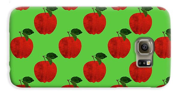Fruit 02_apple_pattern Galaxy S6 Case by Bobbi Freelance