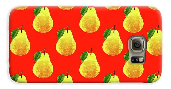 Fruit 03_pear_pattern Galaxy S6 Case by Bobbi Freelance