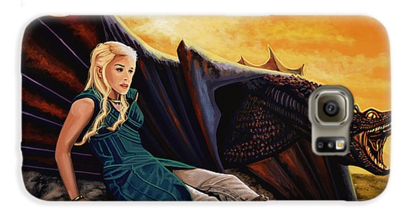 Game Of Thrones Painting Galaxy S6 Case by Paul Meijering