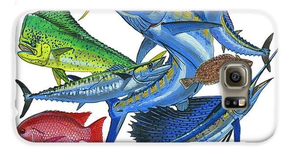 Gamefish Collage Galaxy S6 Case by Carey Chen