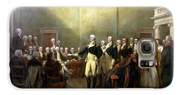 General Washington Resigning His Commission Galaxy S6 Case by War Is Hell Store