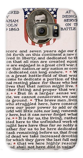 Gettysburg Address Galaxy S6 Case by International  Images
