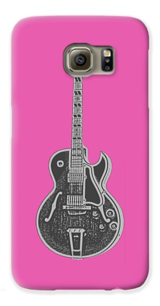 Gibson Es-175 Electric Guitar Tee Galaxy S6 Case by Edward Fielding