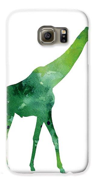 Giraffe African Animals Gift Idea Galaxy S6 Case by Joanna Szmerdt