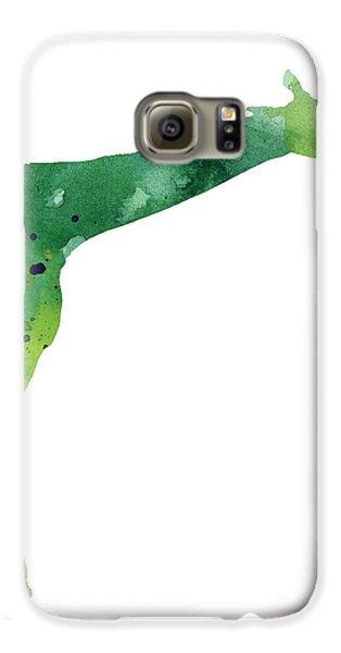 Giraffe Drawing Watercolor Art Print Galaxy S6 Case by Joanna Szmerdt