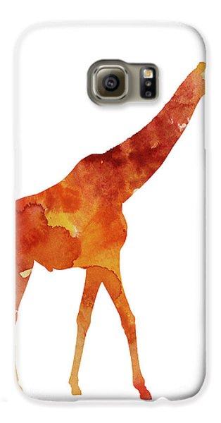 Giraffe Minimalist Painting For Sale Galaxy S6 Case by Joanna Szmerdt