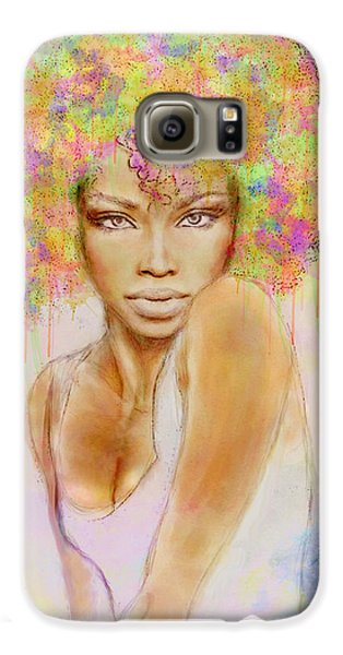 Girl With New Hair Style Galaxy S6 Case by Lilia D