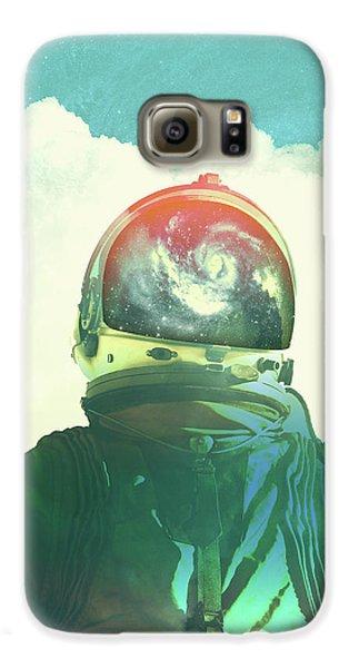 God Is An Astronaut Galaxy S6 Case by Fran Rodriguez