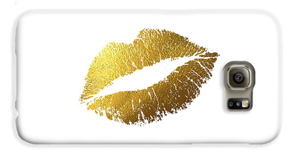 Gold Lips Galaxy S6 Case by Bekare Creative