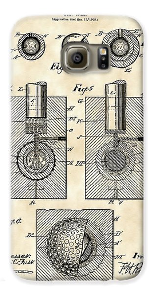 Golf Ball Patent 1902 - Vintage Galaxy S6 Case by Stephen Younts