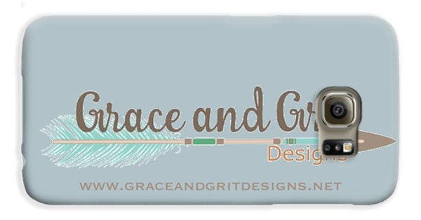 Grace And Grit Logo Galaxy S6 Case by Elizabeth Taylor