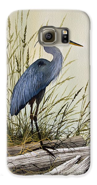 Great Blue Heron Splendor Galaxy S6 Case by James Williamson