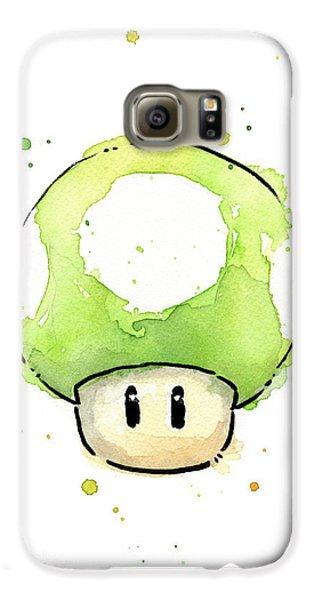 Green 1up Mushroom Galaxy S6 Case by Olga Shvartsur