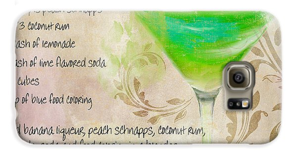 Green Angel Mixed Cocktail Recipe Sign Galaxy S6 Case by Mindy Sommers