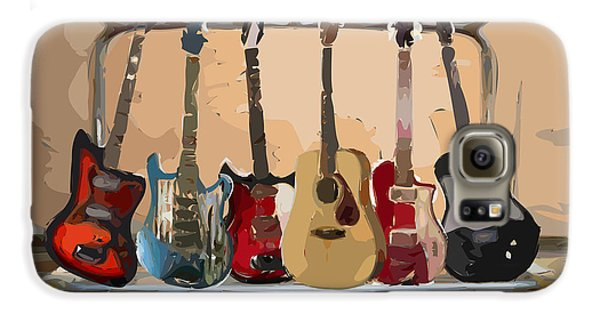Guitars On A Rack Galaxy S6 Case by Arline Wagner