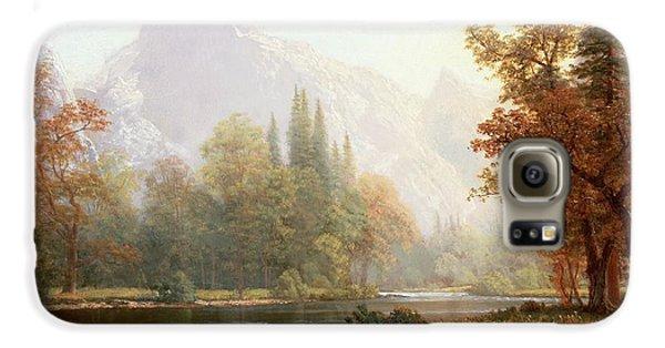 Half Dome Yosemite Galaxy S6 Case by Albert Bierstadt