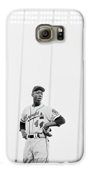 Hank Aaron On The Field, 1958 Galaxy S6 Case by The Harrington Collection