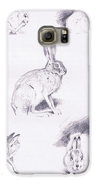Hare Studies Galaxy S6 Case by Archibald Thorburn