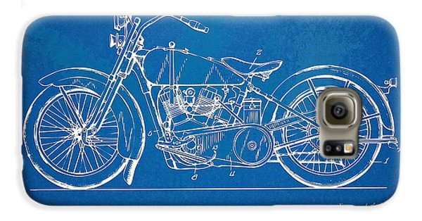 Harley-davidson Motorcycle 1928 Patent Artwork Galaxy S6 Case by Nikki Marie Smith