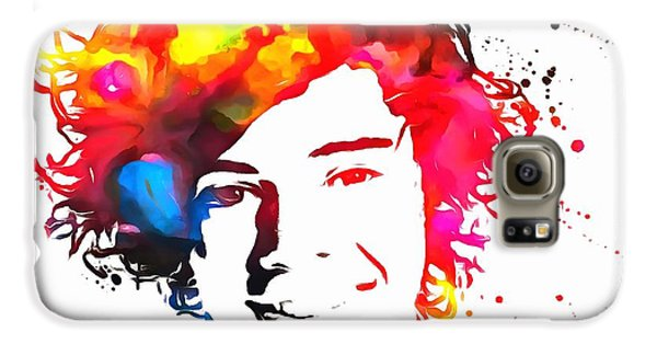 Harry Styles Paint Splatter Galaxy S6 Case by Dan Sproul