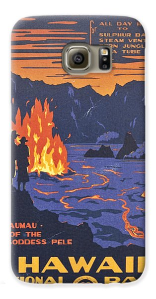 Hawaii Vintage Travel Poster Galaxy S6 Case by Georgia Fowler