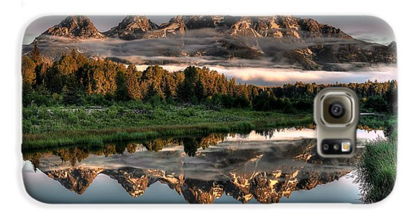 Hazy Reflections At Scwabacher Landing Galaxy S6 Case by Ryan Smith