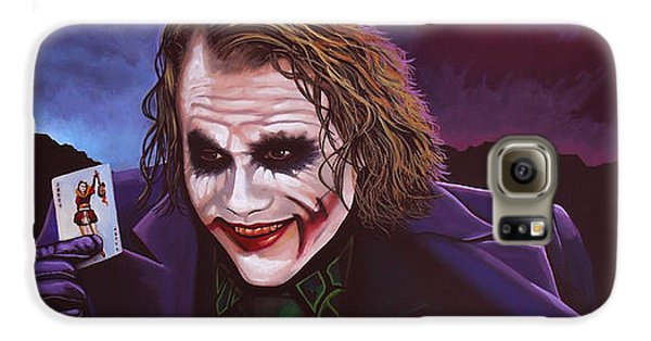 Heath Ledger As The Joker Painting Galaxy S6 Case by Paul Meijering