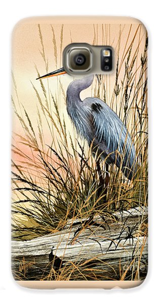 Heron Sunset Galaxy S6 Case by James Williamson