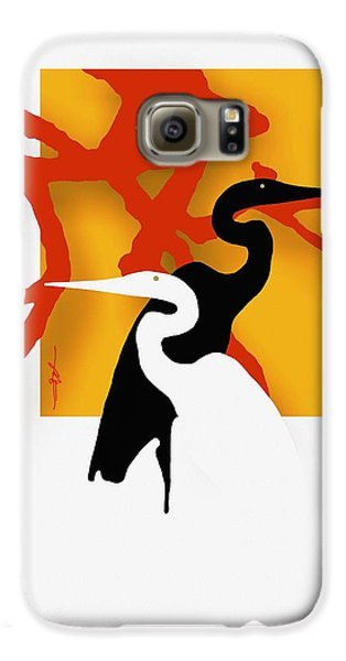 Herons  Galaxy S6 Case by Bob Salo