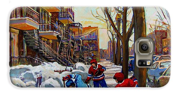 Hockey On De Bullion  Galaxy S6 Case by Carole Spandau