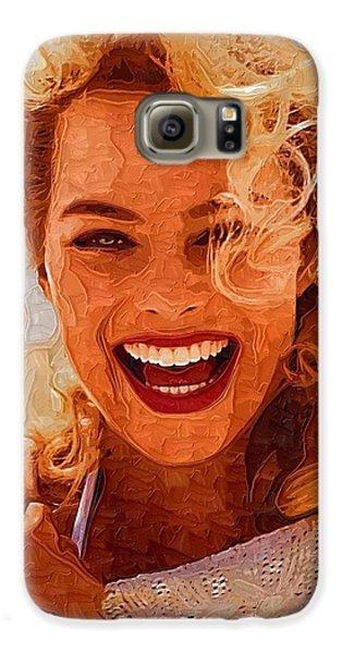 Hollywood Star Margot Robbie Galaxy S6 Case by Best Actors