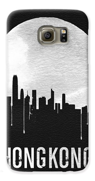 Hong Kong Skyline Black Galaxy S6 Case by Naxart Studio