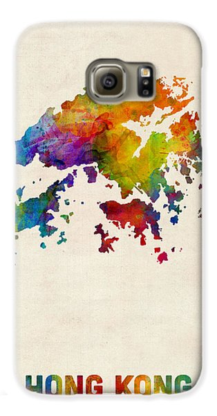 Hong Kong Watercolor Map Galaxy S6 Case by Michael Tompsett
