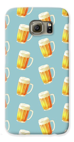Ice Cold Beer Pattern Galaxy S6 Case by Little Bunny Sunshine