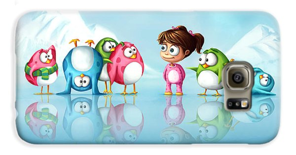 Im A Penguin Too Galaxy S6 Case by Tooshtoosh