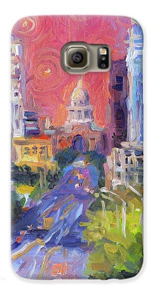 Impressionistic Downtown Austin City Painting Samsung Galaxy Case by Svetlana Novikova