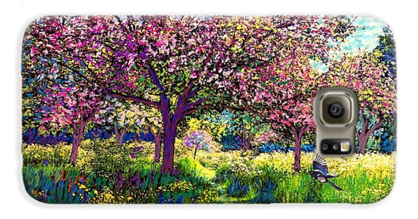 In Love With Spring, Blossom Trees Galaxy S6 Case by Jane Small