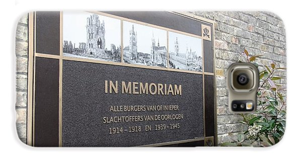 Galaxy S6 Case featuring the photograph In Memoriam - Ypres by Travel Pics