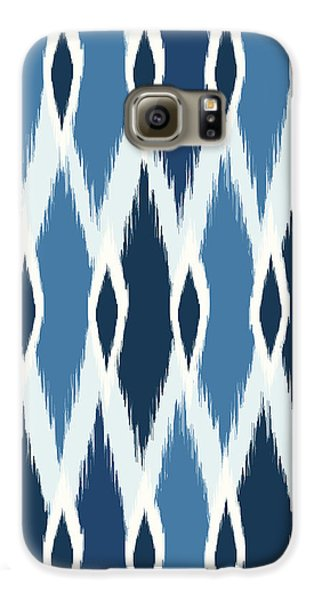 Indigo Ikat Galaxy S6 Case by Arte Flora Design Studio