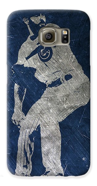 Jake Arrieta Chicago Cubs Art Galaxy S6 Case by Joe Hamilton