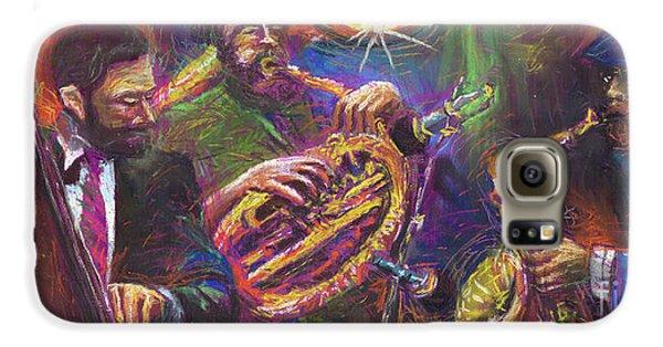 Jazz Jazzband Trio Galaxy S6 Case by Yuriy  Shevchuk