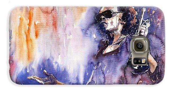 Jazz Miles Davis 14 Galaxy S6 Case by Yuriy  Shevchuk