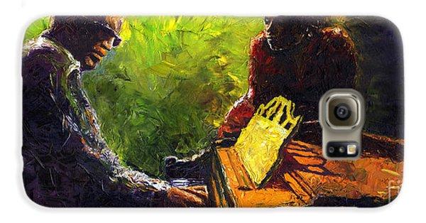 Jazz Ray Duet Galaxy S6 Case by Yuriy  Shevchuk