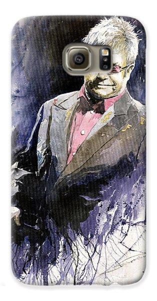 Jazz Sir Elton John Galaxy S6 Case by Yuriy  Shevchuk