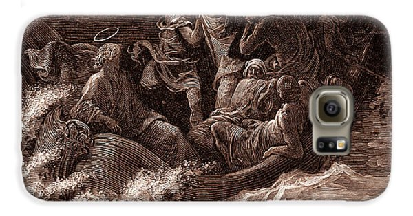 Jesus Stilling The Tempest Galaxy S6 Case by Gustave Dore